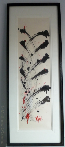 152 cm x 58.5 cm Japanese washi paper Worm wood frame Gouache, india ink, acrylic