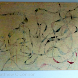 122 cm x 91 cm Acrylic, ink, oil, impasto on canvas