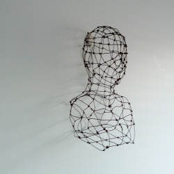 Wire 40 cm (h) x 26 cm (w) x 20 cm (d)